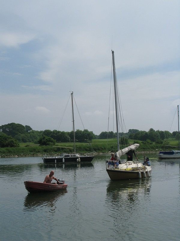 155. Sailing onto the mooring - in capable hands