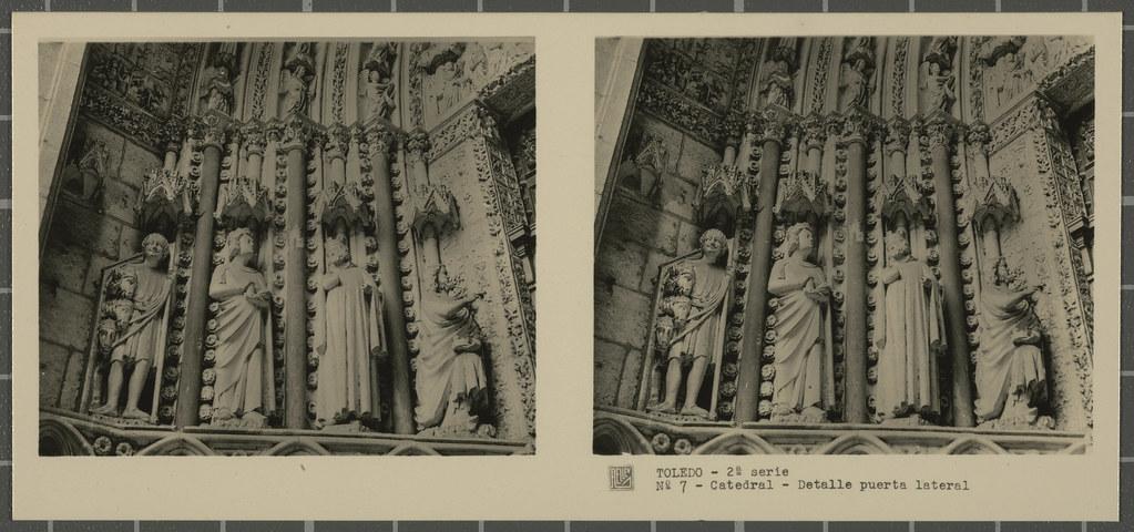 Decoración de una Puerta de la Catedral. Colección de fotografía estereoscópica Rellev © Ajuntament de Girona / Col·lecció Museu del Cinema - Tomàs Mallol