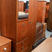Tall teak wardrobe comes with drawers E75
