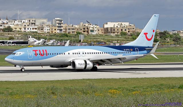 D-ATYA LMML 07-04-2019 TUI Boeing 737-8K5 CN 37256
