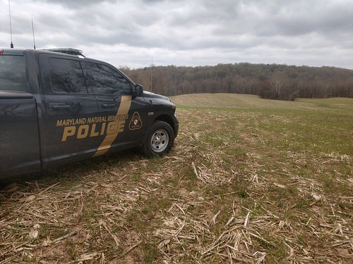 Photo of Maryland Natural Resources Police truck on patrol