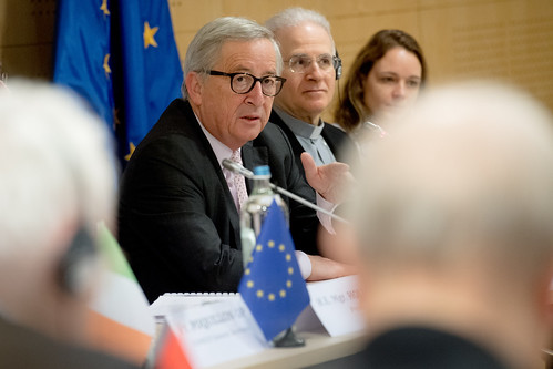 Participation of Jean-Claude Juncker, President of the EC, at the Spring Assembly of the Commission of the Bishops' Conferences of the European Union (COMECE) | by ComeceEU
