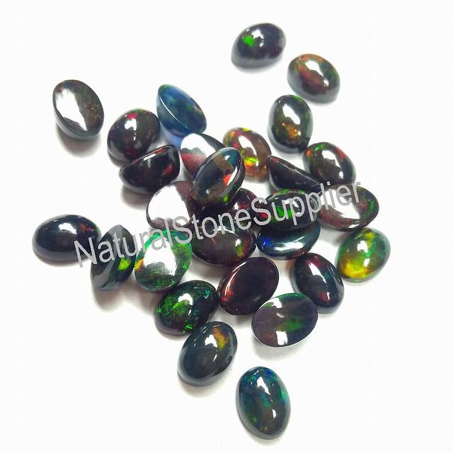 black opal oval cabochon gemstone