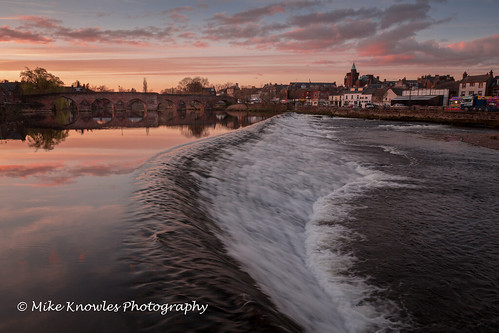 bridge dumfries scottishborders scotland dumfriesandgalloway sunset caul river rivernith devorgillabridge le longexposure nd ndfilter canon650d canon water wideangle