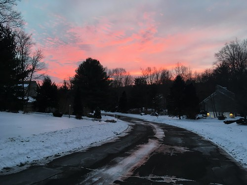 iphone snow ice winter cold trees sunrise red sky clouds road 365the2019edition 3652019 day23365 23jan19 project365
