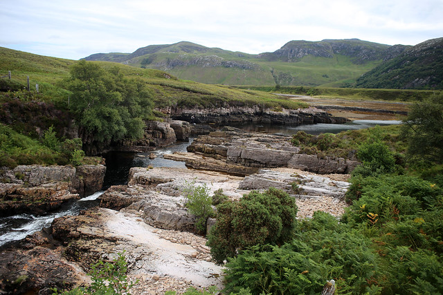 The river flowing into Loch Eriboll