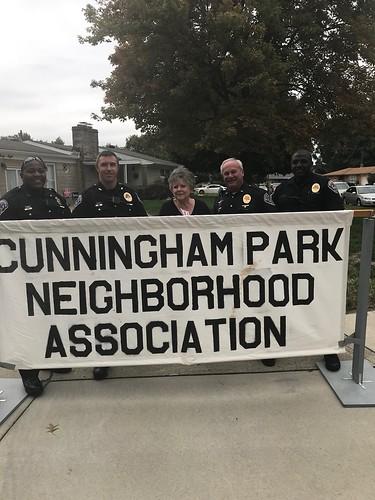 SPD Attends Cunningham Park Neighborhood Association Party