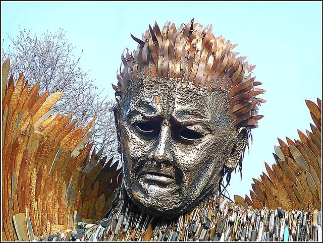 Knife Angel Face Sculpture ..
