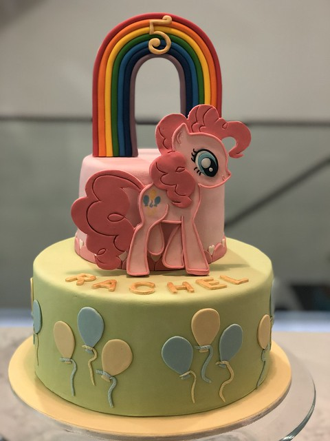 Rachel's 5th Birthday Cake - Rainbow Dash