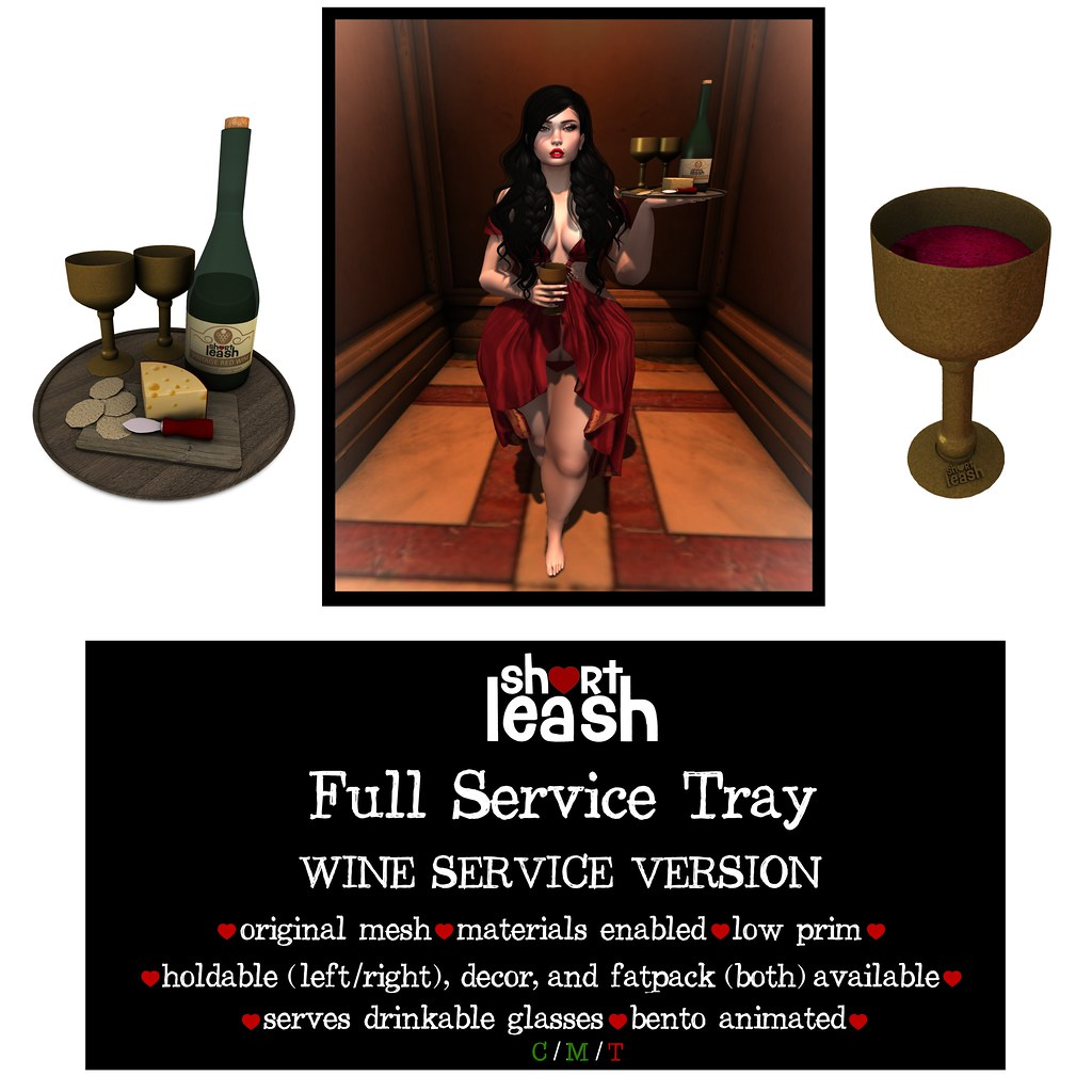 .:Short Leash:. Full Service Tray – Wine Version