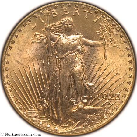 Northeast Obv. Image of 1923-D $20