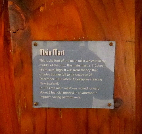Plaque on Main Mast RRS Discovery, Dundee | by jackdeightonsf