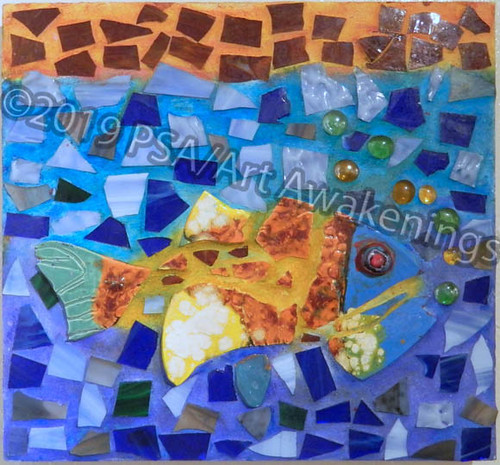 ''Under the Sea'' by Dore G, mosaic, $125.00 | by Art Awakenings