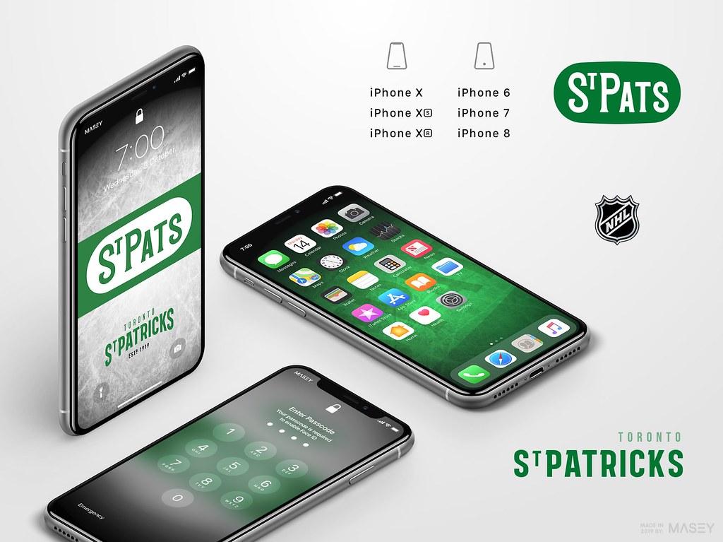 Toronto St Pats iPhone Wallpaper