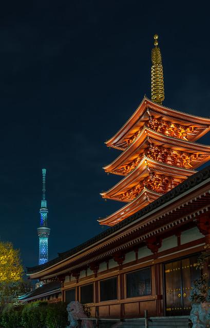 Pagoda & Skytree