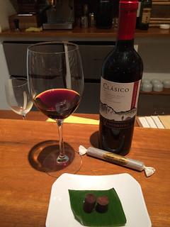 Ventisquero Clásico Chilean Cabernet Sauvignon with Chocorart, 50% chocolate | by WineAndCheeseFriday