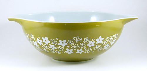 1972-1979 Pyrex Cinderella Bowl Spring Blossom Green | by owntwohands