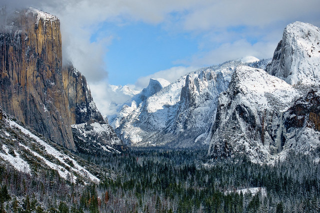 Yosemite Valley as seen from Tunnel View - Feb 2019