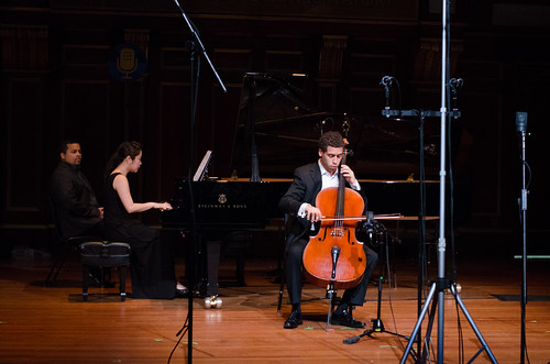 Cellist Tony Rymer with pianist Jung-A Bang | by From the Top, Inc.