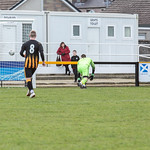 Cameron Lisle's (out of shot) attempted clearance ends up in the back of his own net