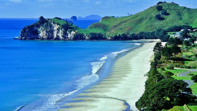 Strand bei Hahei in Neuseeland
