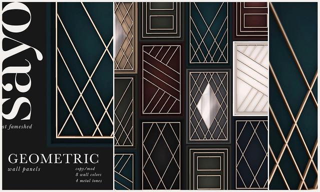 SAYO - Geometric Wall Panels @ Fameshed