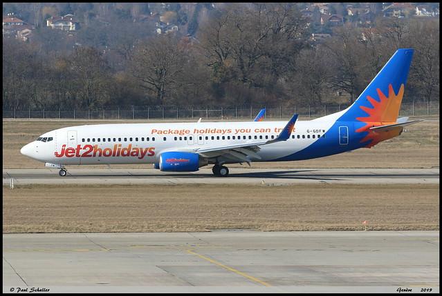 BOEING737 8K5 Jet2 G-GDFW 27986 Genève février 2019