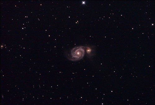 M51 Whirlpool Galaxy Stack_216frames_6480s_WithDisplayStretch | by BlackWikkett