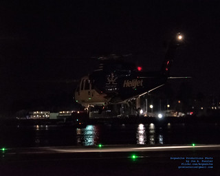 A Nighttime @HeliJet Liftoff From Victoria Heliport