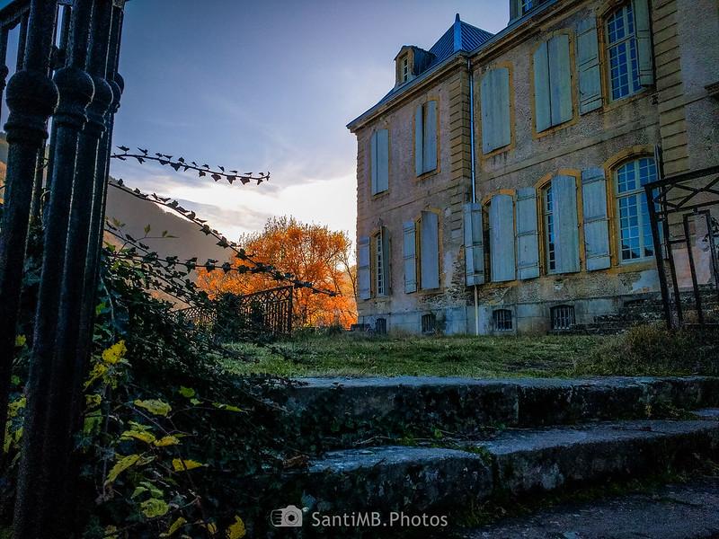 Desde la primera escalinata del Château de Gudanes