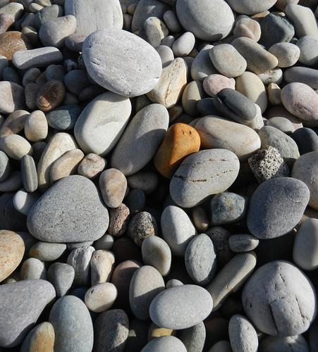 A Stony Beach in Inishowen Peninsula in Ireland