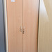 Tall beech and white cabinet E200