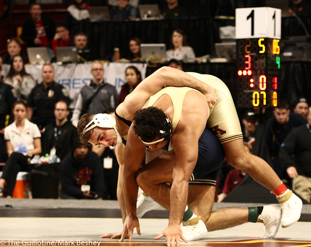 1st Place Match - Anthony Cassar (Penn State) 25-1 won by decision over Gable Steveson (Minnesota) 30-1 (Dec 4-3) - 190310dmk0207