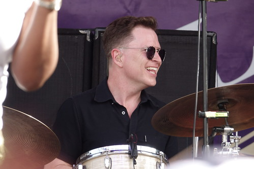 Stanton Moore of Galactic on Day 1 of French Quarter Fest - 4.11.19. Photo by Keith Hill.