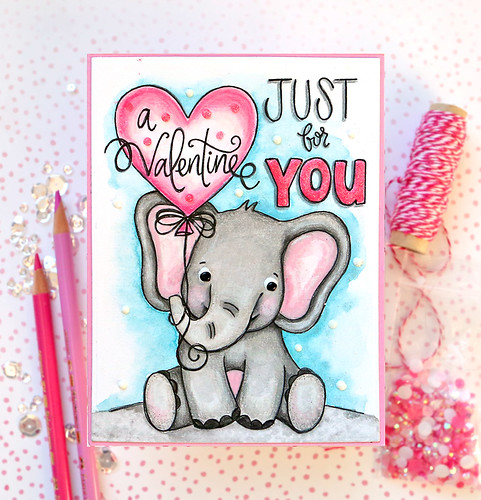Valentine's Day Watercolor Card 11 | by suzy.plantamura