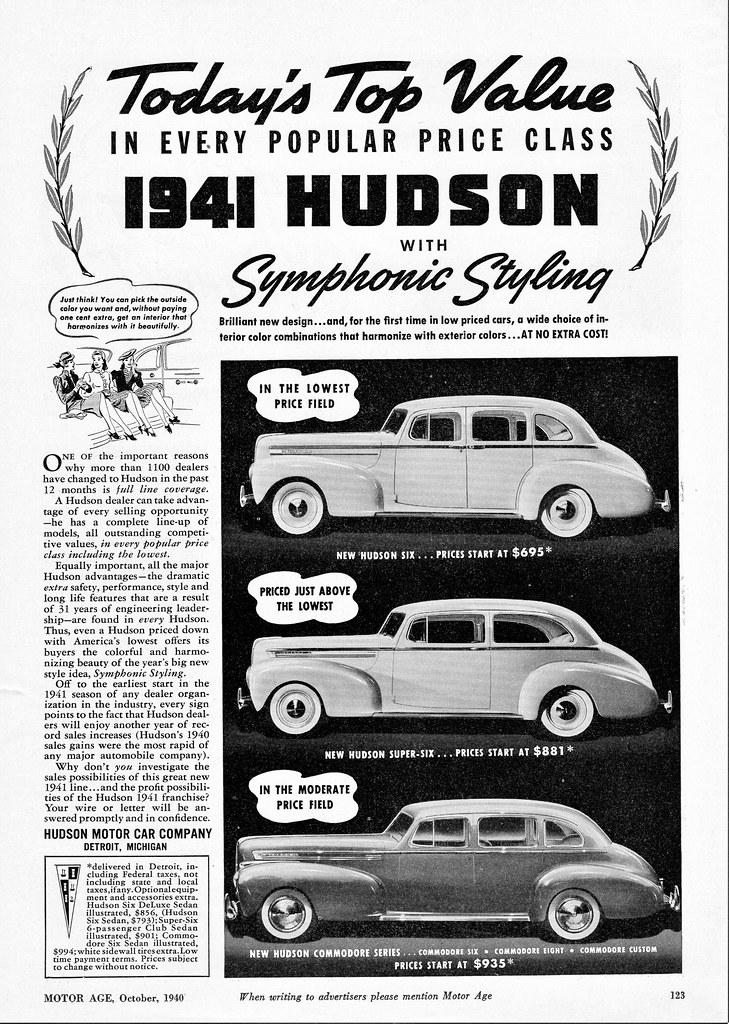 1941 Hudson Dealer Solicitation Ad Most Car Manufacturers Flickr