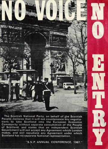 No Voice.  No Entry.  SNP  Common Market leaflet.  c.1968   by Scottish Political Archive