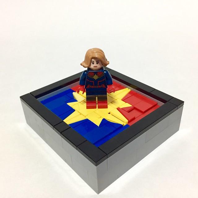 higher further faster . . #captainmarvel #marvel #moc #lego #legomoc #legomarvel #legominifigures #레고 #캡틴마블 #art #painting