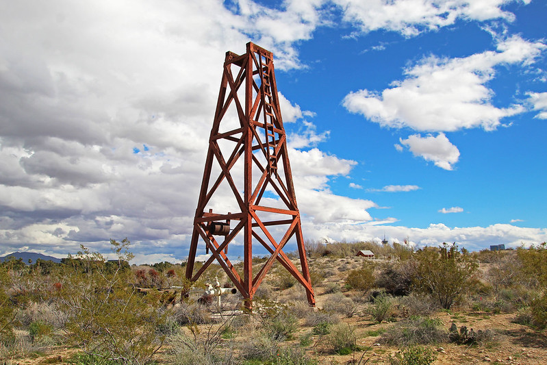 Springs Preserve well derrick