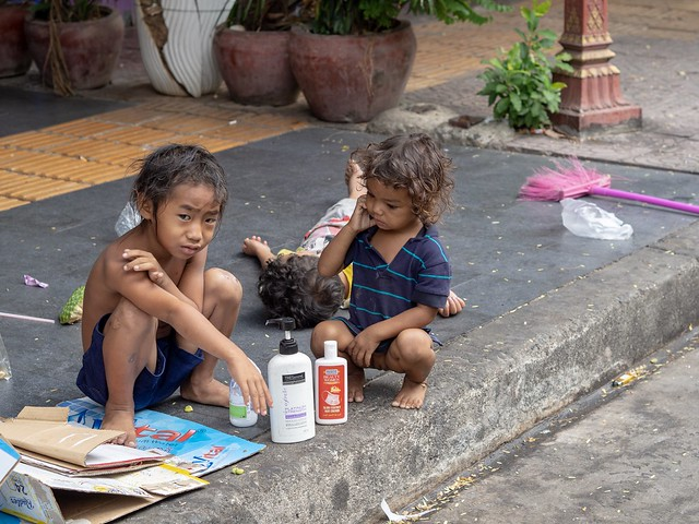 Poverty is one of the biggest social problem in developing nations. Hope these children could grow up and do better in life.