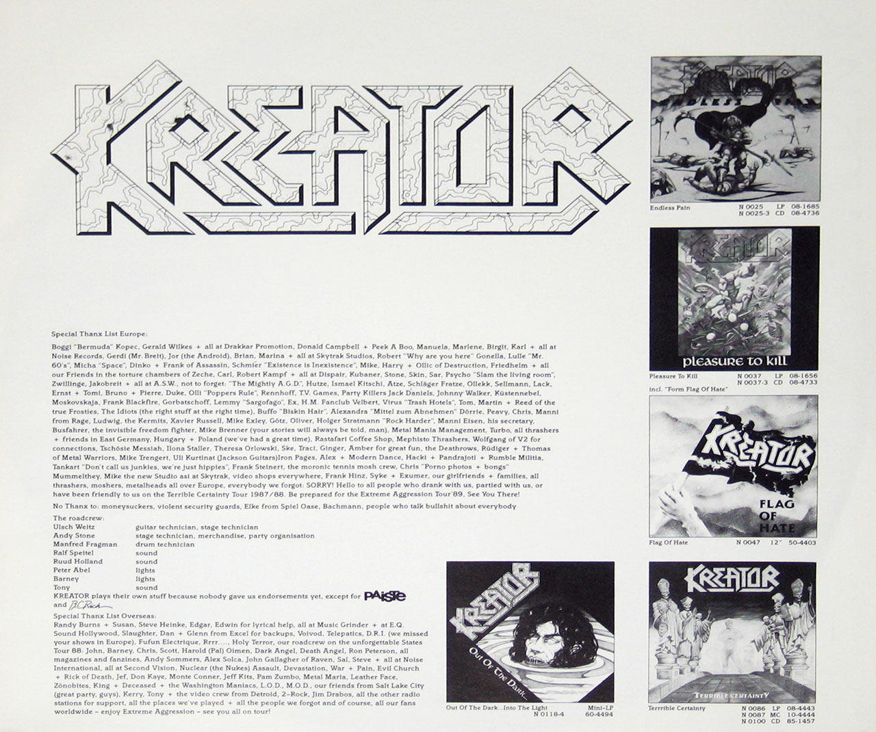 Kreator Extreme Aggression