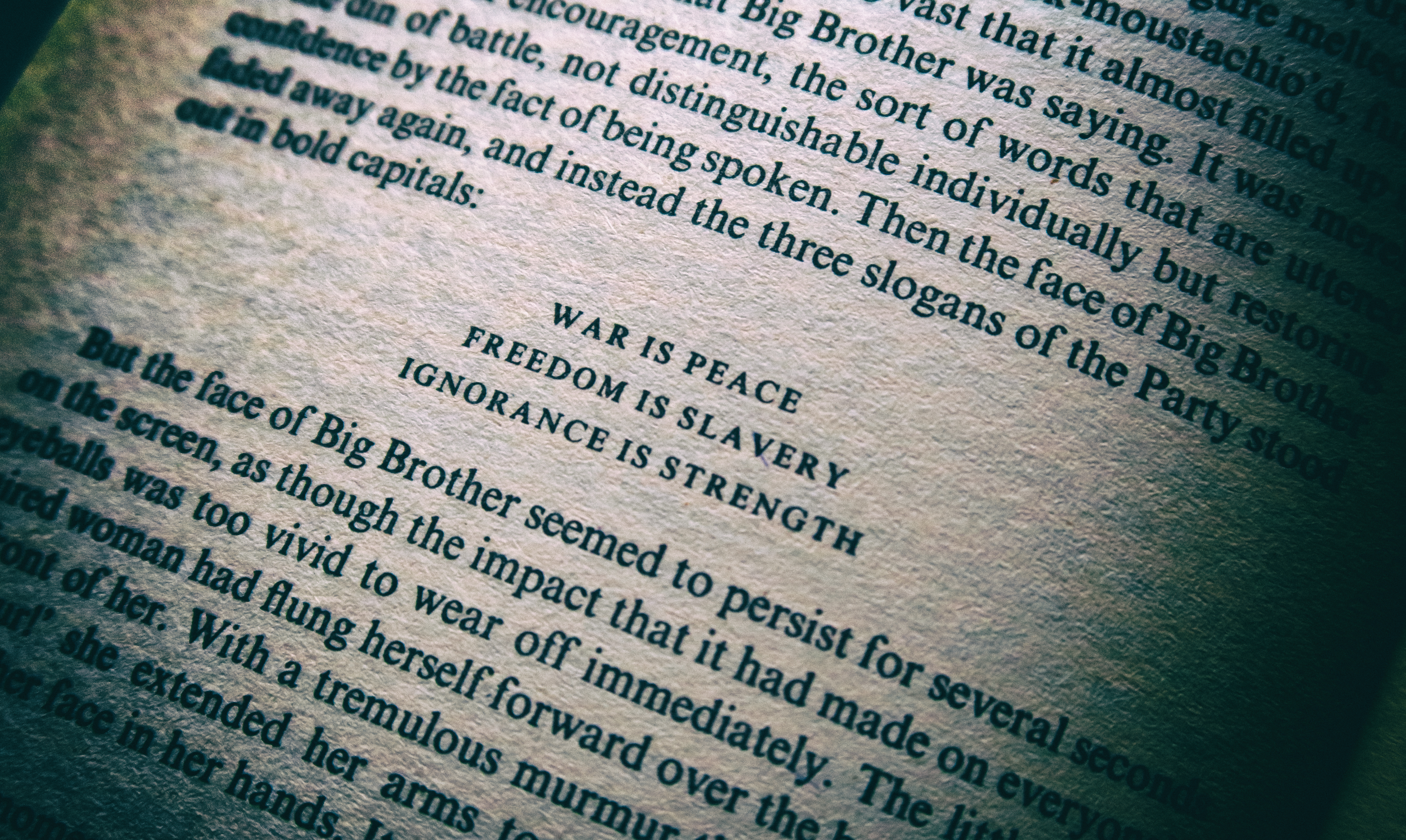 HousingITguy,Project365,2nd 365,HotpixUK365,Tone Smith,GoTonySmith,365,2365 one a day,Tony Smith,Hotpix,Eric Blair,George Orwell,Quote,War Is Peace,Freedom Is Slavery,Ignorance Is strength,book,literature,writing