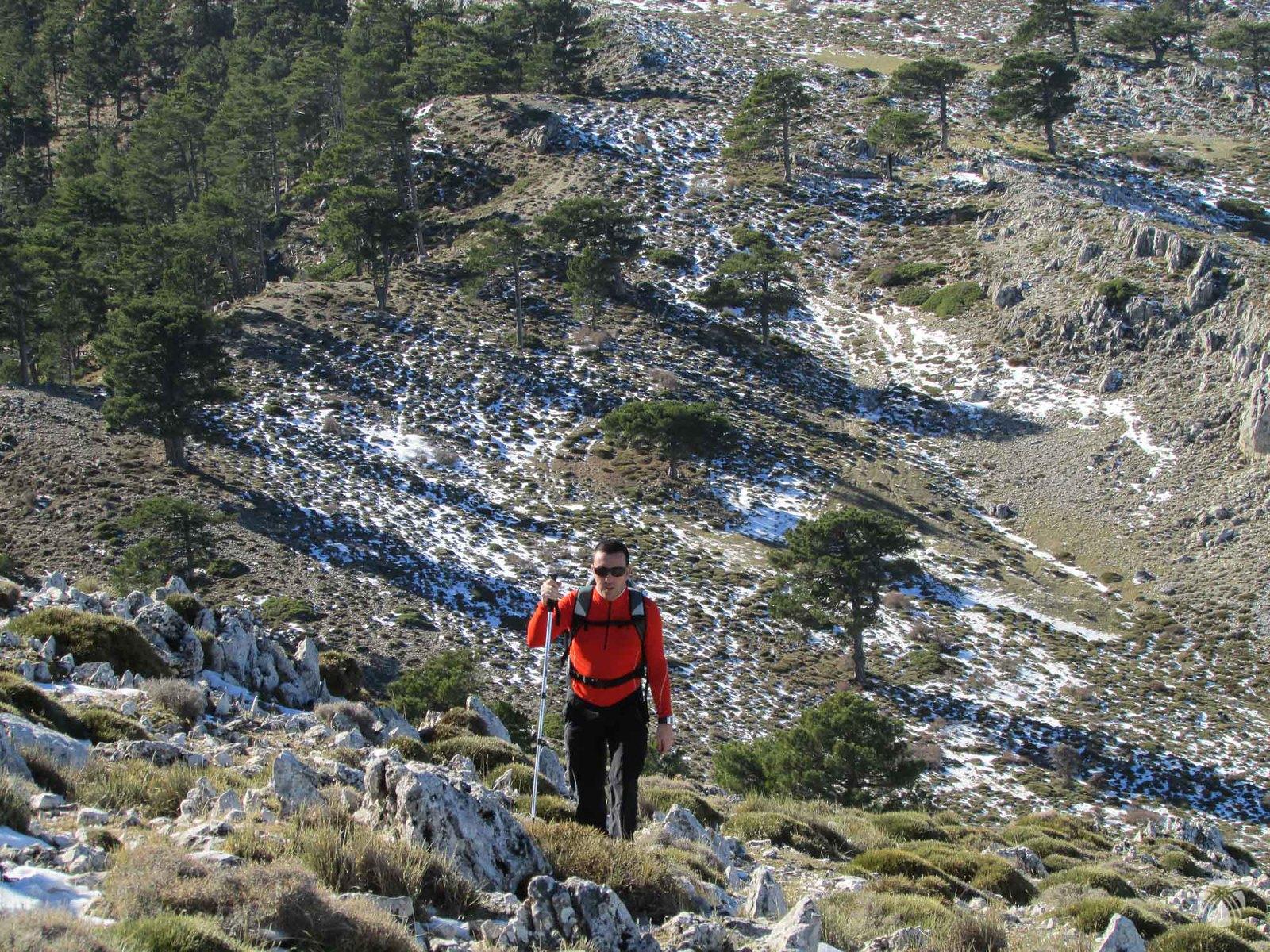 Joaquín cerca de la cumbre