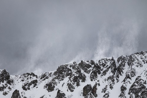 wind sky snow mountain