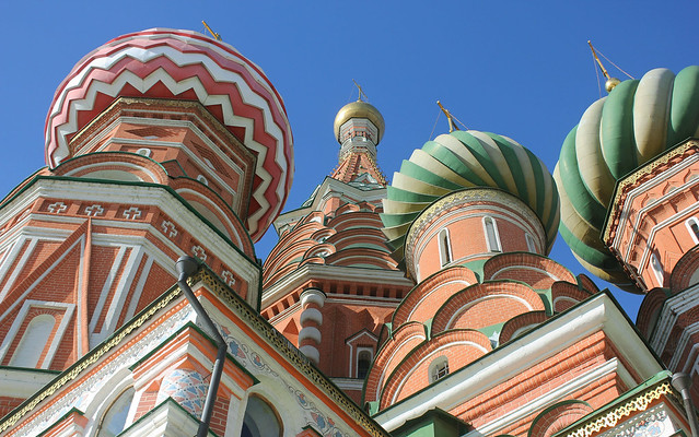 Moscow, Saint Basil's Cathedral - Cathedral of the Protection of Most Holy Theotokos on the Moat (since 1561), Red Square & Vasilyevsky Descent, Tverskoy district.