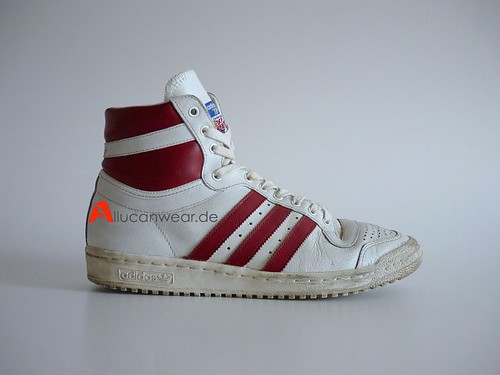 VINTAGE ADIDAS TOP TEN BASKETBALL SPORT HI SHOES / HI TOPS | by aucwd
