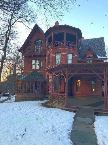 red brick sunset marktwainhouse hartford nookfarm flickrlounge saturdaytheme