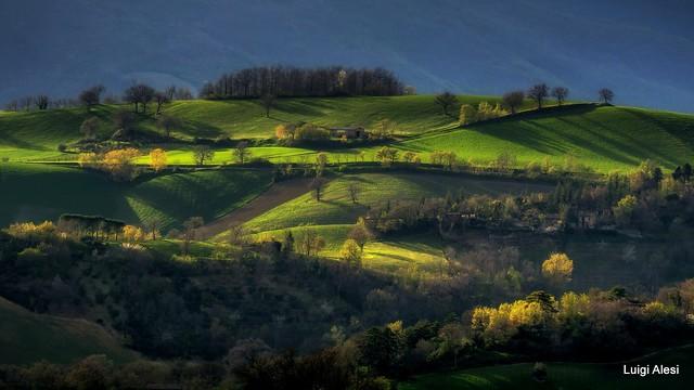 il sole sulla collina - San Severino Marche