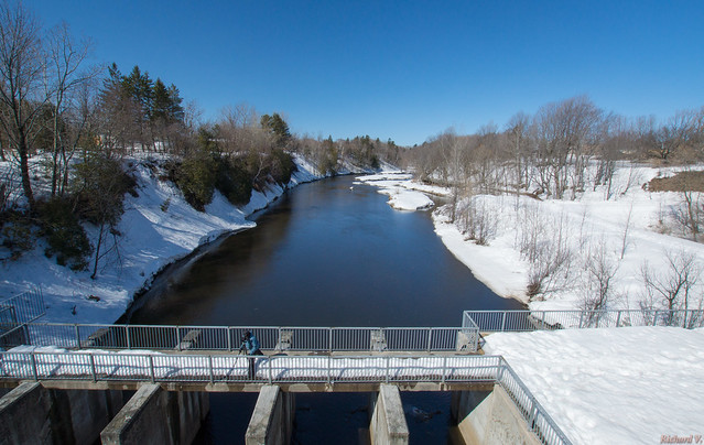 Barrage - Rivière Saint-Charles, Parc Chauveau - Québec, Canada  - 9986