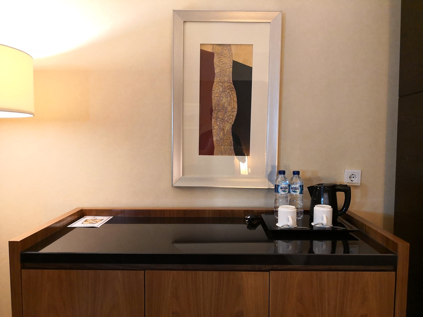 Minibar console in the room